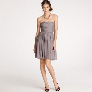 J Crew Arabelle Strapless Cocktail Dress - Silk